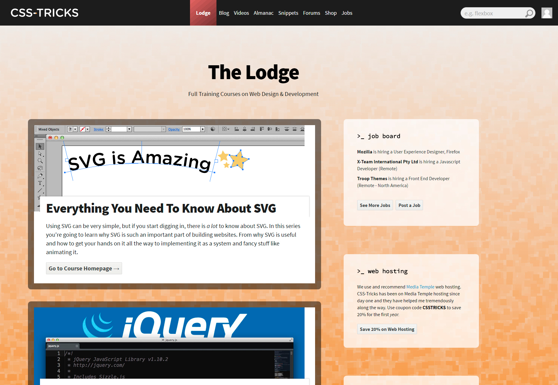 css-tricks-lodge-free-web-developing-courses