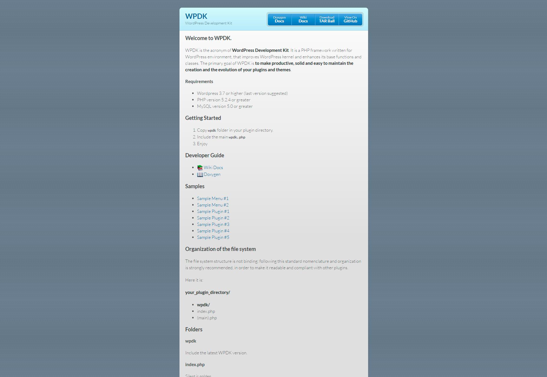 wpdk-wordpress-development-kit