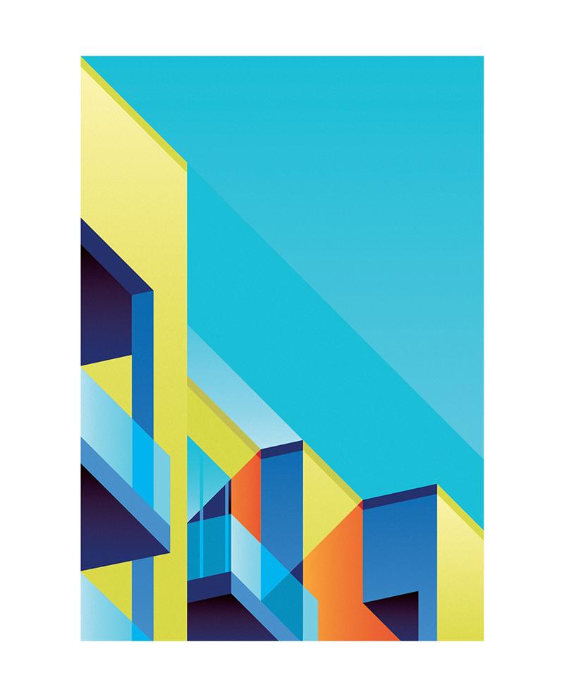 型_在这两年,直线型的插画设计非常流行,它提炼了事物的外形,获得一种